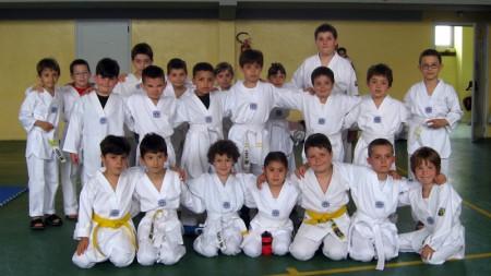 Esami di Taekwondo a Rio Saliceto - Piccoli