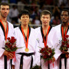 Taekwondo Pechino 2008 podio  cat +80 M