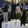Daniele riceve il trofeo come prima squadra classifcata