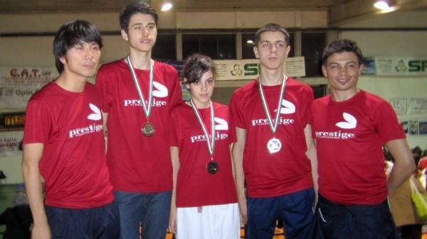 Lucio, Dan, Lety, Kevin e Miki Interregionale Puglia