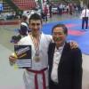 Giuseppe Regolo con il DT della nazionale Park Young Ghil