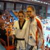 Letizia con la sua avversaria Iris Jovic Vujakovic della nazionale Serba