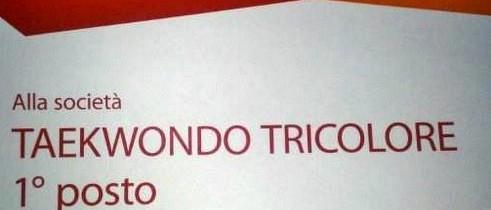 Taekwondo Tricolore premiata dalla FITA per il maggior numero di tesserati