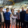 Alberto e Denise con il maestro Park e i coach della nazionale Yoon