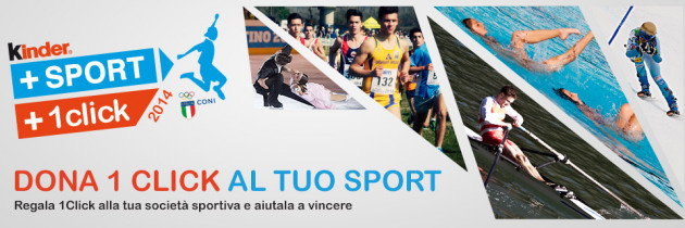 Dona il tuo click con Kinder+Sport 2014